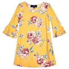 Girls 7-16 IZ Amy Byer Floral Bell Sleeve A-Line Dress