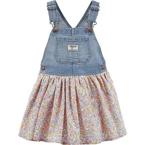 Toddler Girl OshKosh B'gosh® Floral Denim Jumper