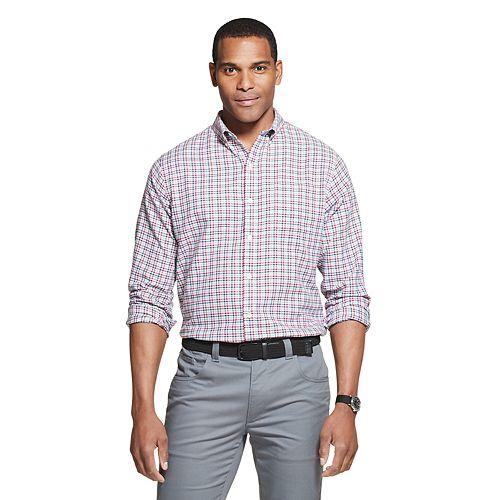 Men's Van Heusen Flex Classic Fit Non-Iron Plaid Button-Down Shirt
