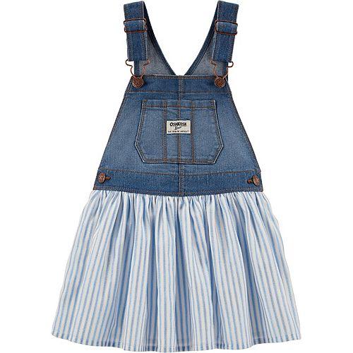 Toddler Girl OshKosh B'gosh Striped Denim Jumper