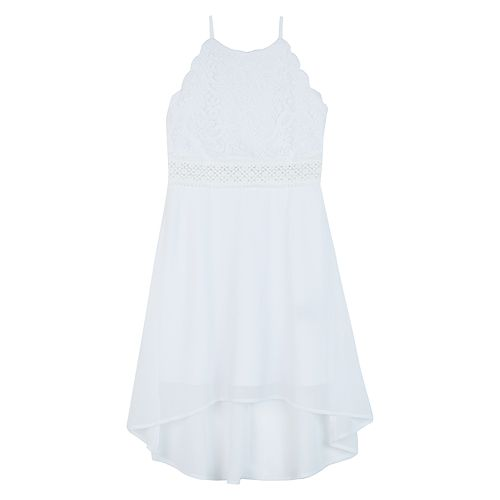 Girls 7-16 IZ Amy Byer Scalloped Lace High-Low Dress