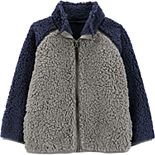 Toddler Boy Carter's Zip-Up Sherpa Jacket