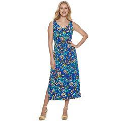 Petite Apt. 9® Print Gathered Maxi Dress