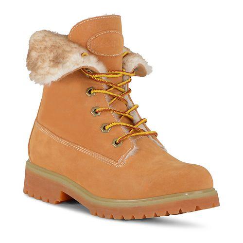 Lugz Convoy Fold Faux Fur Women's Combat Boots