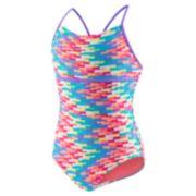 Girls 7-16 Speedo Tropical Strappy One-Piece Swimsuit