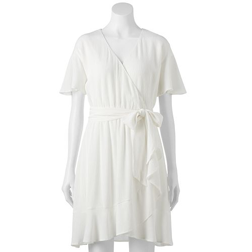 Petite LC Lauren Conrad Ruffle Faux-Wrap Dress