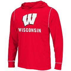 70d638fa2e69 Men s Wisconsin Badgers Hooded Tee