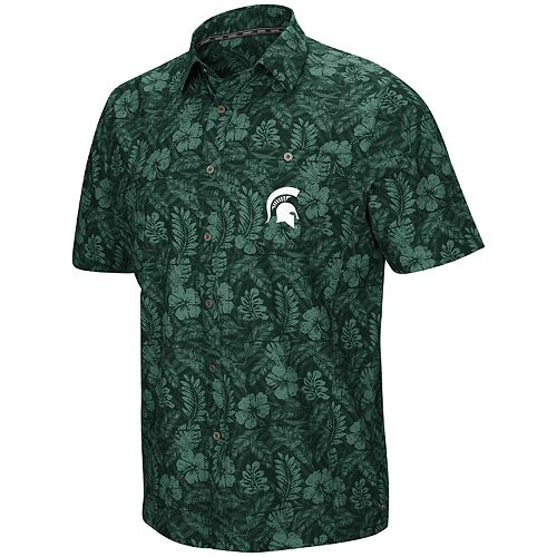 Men's Michigan State Spartans Luau Button-Down Shirt