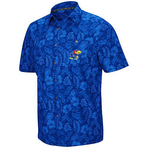 Men's Kansas Jayhawks Luau Button-Down Shirt