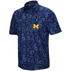 8cc05096 Men's Michigan Wolverines Luau Button-Down Shirt