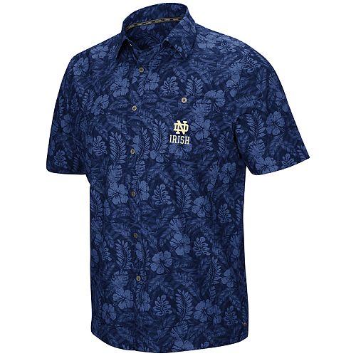 Men's Notre Dame Fighting Irish Luau Button-Down Shirt