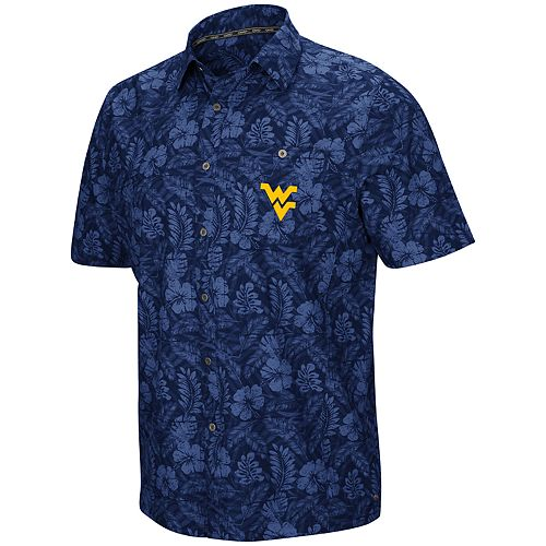 Men's West Virginia Mountaineers Luau Button-Down Shirt