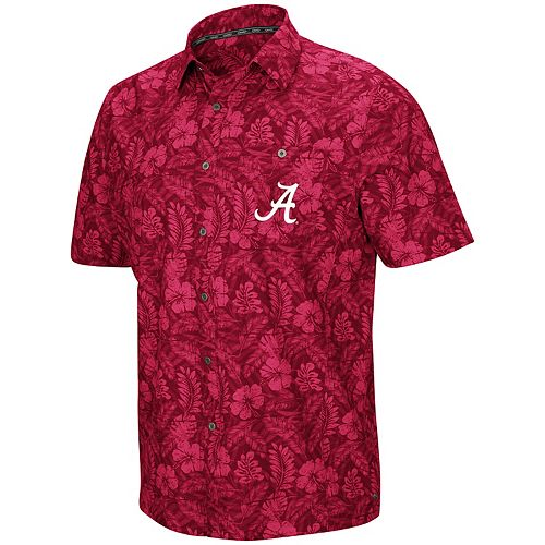 Men's Alabama Crimson Tide Luau Button-Down Shirt