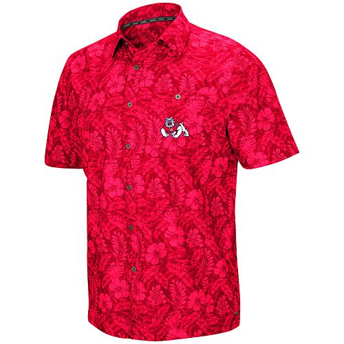 Men's Fresno State Bulldogs Luau Button-Down Shirt