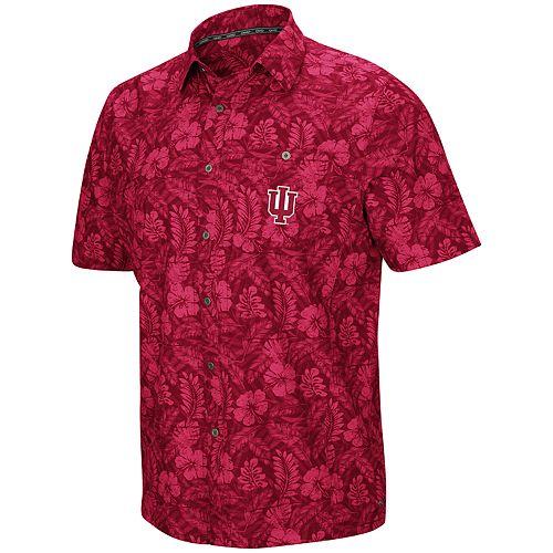 Men's Indiana Hoosiers Luau Button-Down Shirt