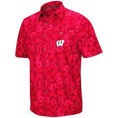 9b0e8e8a1782b Men s Wisconsin Badgers Luau Button-Down Shirt