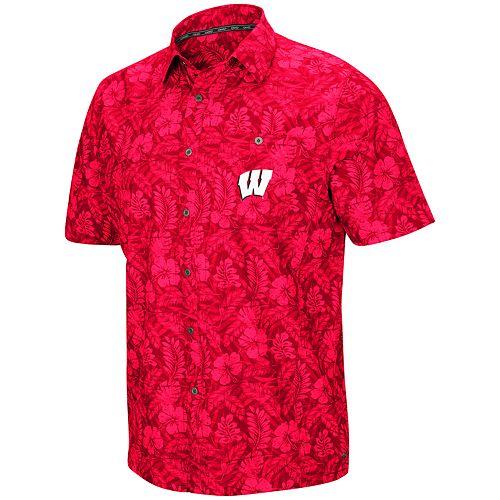 Men's Wisconsin Badgers Luau Button-Down Shirt