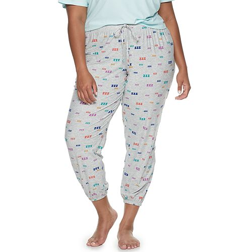 Juniors' Plus Size SO® Elastic-Hem Pajama Pants