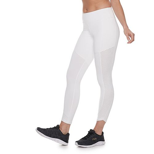 Women's FILA SPORT® Perforated Side Panel Midrise Ankle Leggings