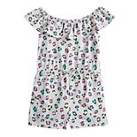 Girls 4-12 Jumping Beans® Printed Ruffled Romper