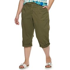 NEW! Plus Size EVRI Utility Capris