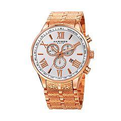 Akribos XXIV Men's Stainless Steel Chronograph Watch