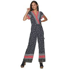 Juniors' Candie's Wrap Jumpsuit
