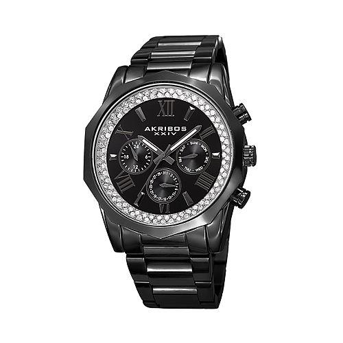 Akribos XXIV Men's Crystal Accent Watch