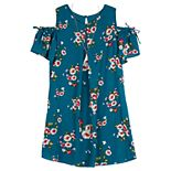 """Girl's IZ Amy Byer """"A""""-Line Cold-Shoulder Dress"""