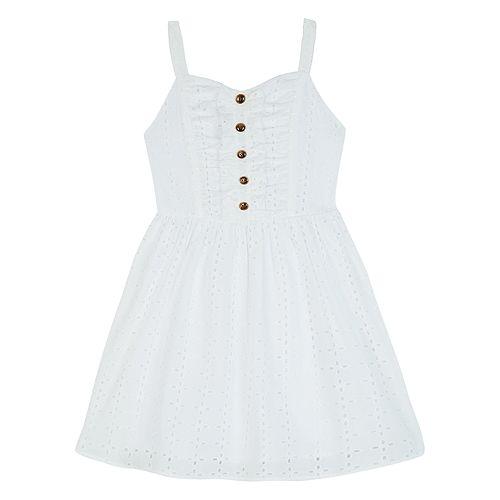 Girl's IZ Amy Byer Fit & Flare Sweetheart Neckline Smocked Dress