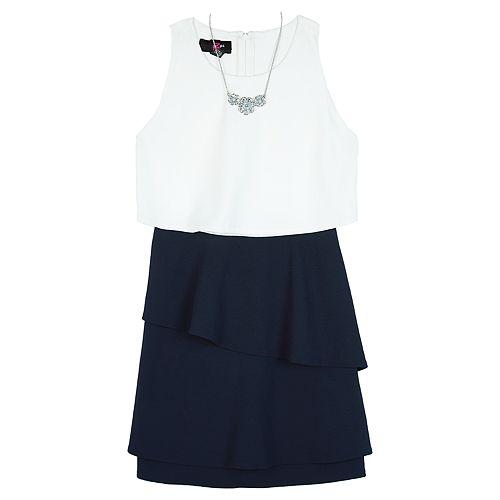 Girl's IZ Amy Byer Sleeveless Popover Dress