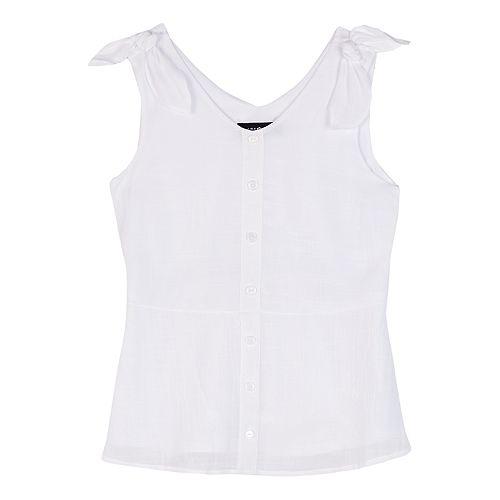 Girls' IZ Amy Byer V-neck Shoulder Bow-Ties Tank Top