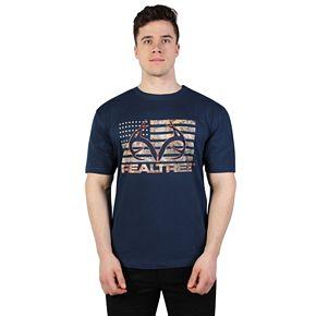 Men's Realtree Short Sleeve Camo Flag Graphic Tee