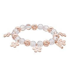 inspire NEW YORK Flower Charm Stretch Bracelet