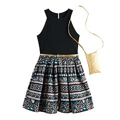 aa5707a42 Girls 7-16 Knitworks Sleeveless Cleo Halter Skater Dress
