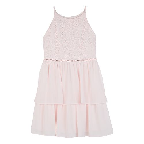 Girls IZ Amy Byer Fit & Flare Double-Tiered Skirt Dress