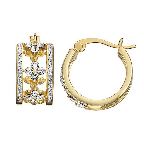 Chrystina Openwork Crystal Hoop Earrings