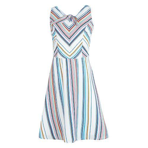 Girls IZ Amy Byer Tie Front Fit & Flare V-Neck Dress