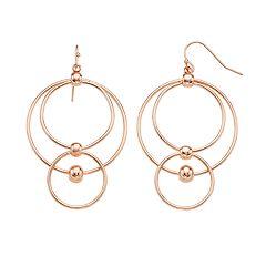 inspire NEW YORK Nickel Free Orbital Drop Earrings