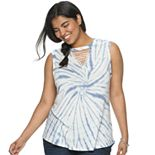 Juniors' Plus Size SO® Macrame Tank
