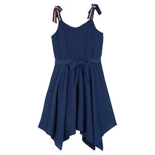 Girls 7-16 IZ Amy Byer Pleated Handkerchief Hem Dress