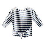 Girls 7-16 IZ Amy Byer Crochet Shoulder Top & Necklace