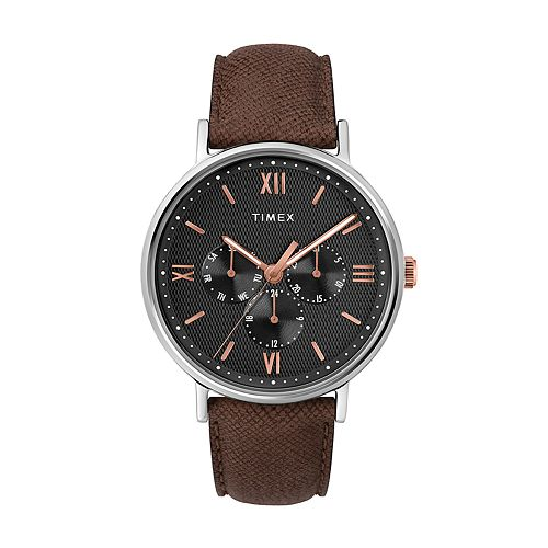 Timex Southview Men's Brown Leather Watch