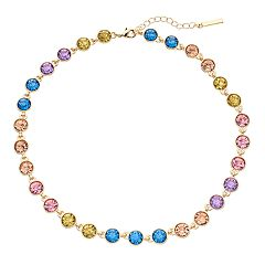 inspire NEW YORK Simulated Crystal Collar Necklace