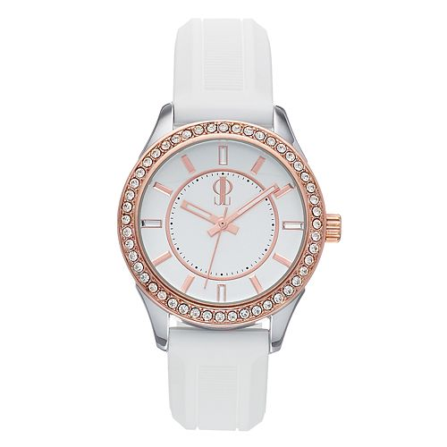 Jennifer Lopez Women's Crystal Accent Silicone Band Watch - FMDJL344
