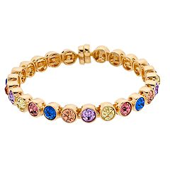 inspire NEW YORK Simulated Crystal Coil Bracelet