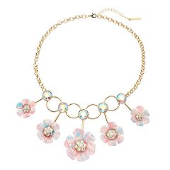 inspire NEW YORK Floral Statement Necklace