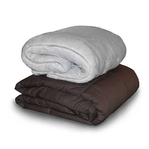 Dream Lab Acupressure Comfort 15 lb Weighted Blanket with Removable Cover