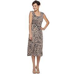 Women's Dana Buchman Shirred-Waist Midi Dress