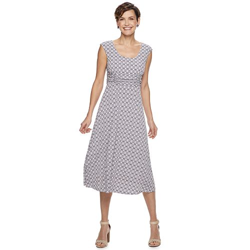 Women's Dana Buchman Shirred-Waist Midi Dress